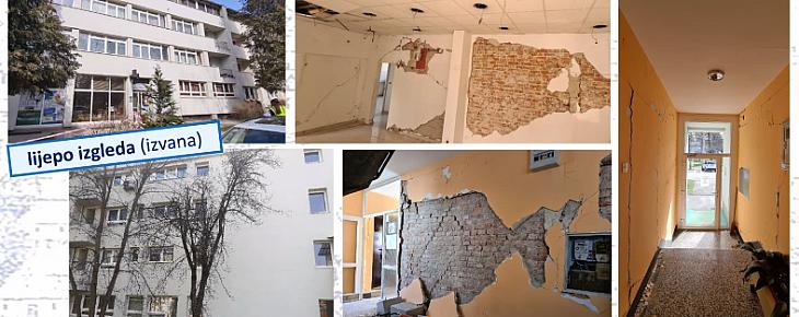 Petrinja - energetski obnovljena zgrada koja je razrušena iznutra