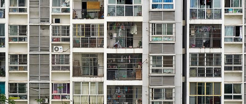 balkon, zgrada, fasada