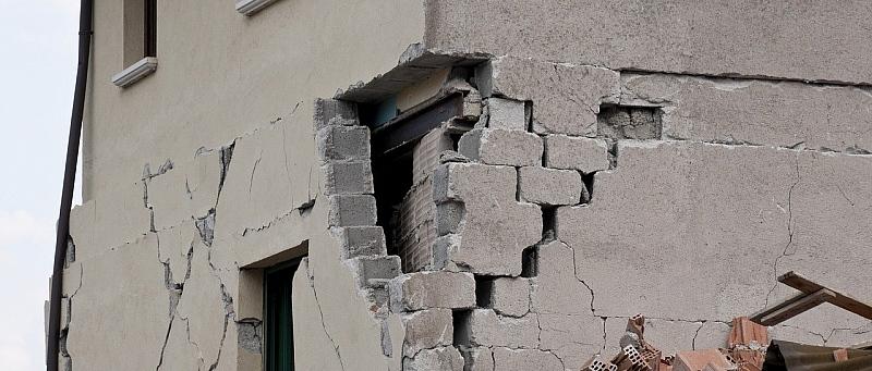 potres, zid