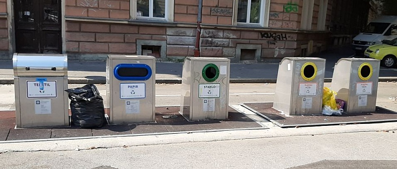 recikliranje, odvajanje otpada, kante, kontejneri