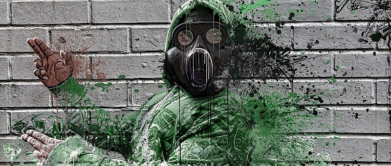plin, čovjek s plinskom maskom, gas maska